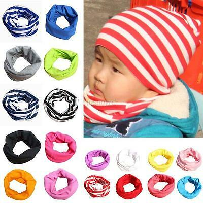 Kids Baby Boys Girls Warm Scarf Cotton Neck Shawl Neckerchief Toddler Scarves