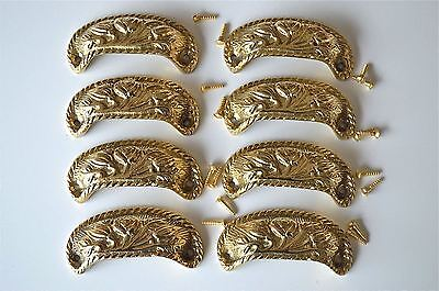 8 brass antique cup drawer handle dresser draw pull handle c/w screws 2002