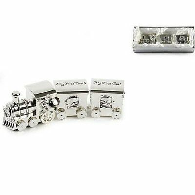 Silver Plated Train with Two Carriages