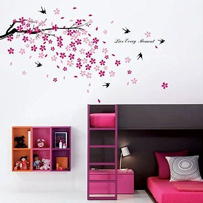 Walplus Wall Stickers Blossom Bird Removable Self-Adhesive Mural Art Decals Viny