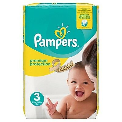 Pampers Premium Protection Nappies Monthly Saving Pack - Size 3 Pack of 204