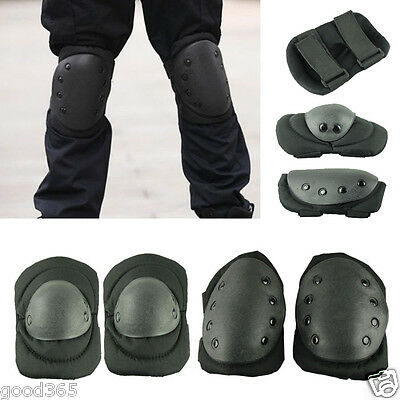 Tactical Military Airsoft Sport Paintball Protective Knee Pads Elbow Pads Suit