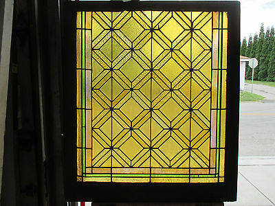 ~ Antique American Stained Glass Window ~ 39 X 44 2 Of 2~ Architectural Salvage