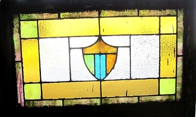 ~ Antique American Stained Glass Window 24 X 36 ~ Architectural Salvage ~