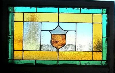 ~ Antique American Stained Glass Window ~ 24 X 36 ~ Architectural Salvage ~