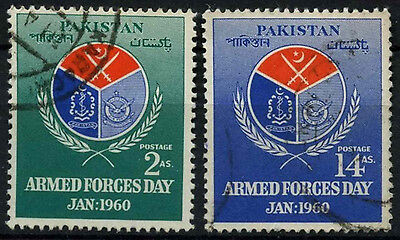 Pakistan 1960 SG#106-7 Armed Forces Day Used Set #D30885