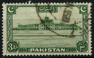 Pakistan 1948-57 SG#31, 3a Green Used #D30817