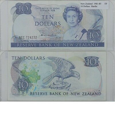1981-85 10 Dollar Banknote from New Zealand in Extra Fine Condition.