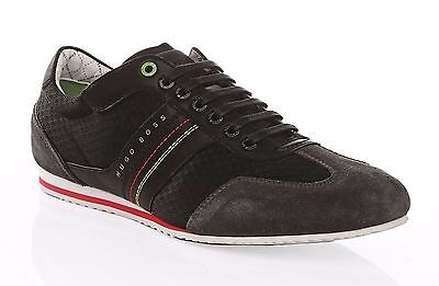 Hugo Boss Men's Shoes Victov Lace Up Leather Suede Black