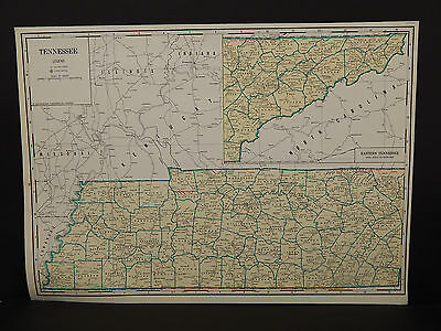 Vintage Map, 1934, Tennessee R1#40