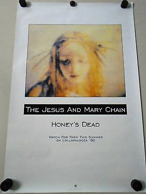 """lollapaloozo / Orig. promo poster - Jesus & Mary Chain / Exc. New cond. 23x35"""""""