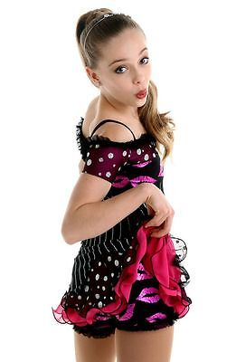 NEW COMPETITION SKATING DRESS Elite Xpression Kiss 1539 SIZE 12-14