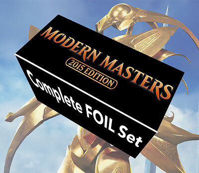 MTG Modern Masters 2015 Complete 249 Card NM+ Foil Set Tarmogoyf Noble Hierarch+