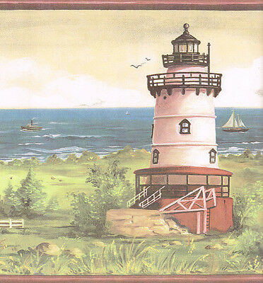 Lighthouses and Sailboats Wallpaper Border