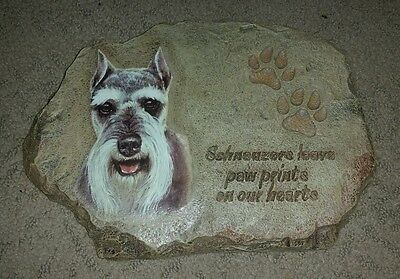 Schnauzers Leave Paw Prints on Our Hearts Plaque Bradford Exchange Collectible