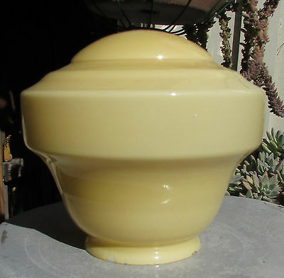 Vintage Ivory Coloured Art Deco Glass Light Lamp Shade Domed Diana