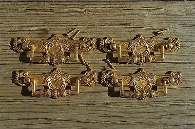 4 Regency brass folliage drawer handle draw pull desk chest cabinet 2025