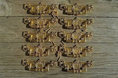 10 Regency brass folliage drawer handle draw pull desk chest cabinet 2025