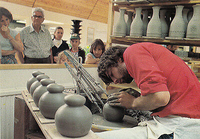 Jersey The Pottery Centre Gorey Craft Worker Postcard