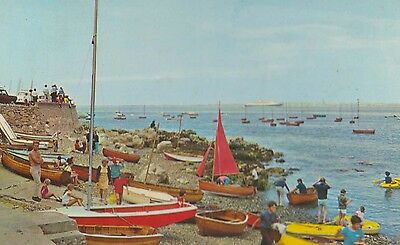 Seaview Isle Of Wight Daily Express Boat Race Message 1970s Postcard