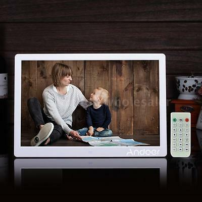 "15.6"" Full HD Digital Photo Frame Picture Clock MP4 Movie Player+Remote Control"