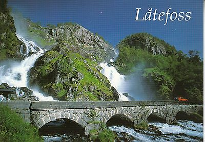 Post Card - Norway / Latefoss in Oddadalen, Hardanger