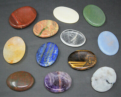 Natural Palm Stone / Worry Stone: 1 Piece (Crystal Healing Pocket Stone)