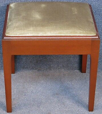 Stag Solid Mahogany Framed Dralon Upholstered Dressing Stool