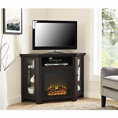 Walker Edison Furniture 48 Corner Tv Stand Fireplace Console In