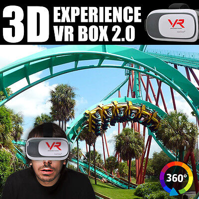 3D Vr Box Virtual Reality Glasses Goggles Headset Bluetooth Remote Control