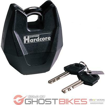 Oxford Hardcore XL High Security Motorcycle Padlock Forged Hardened Steel Chain