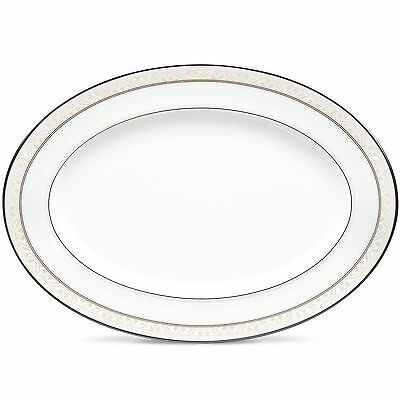 Noritake China Montvale Platinum 14 Inch Oval Serving Platter