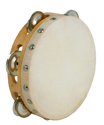 "Atlas 6"" TAMBOURINE. Wooden rim and goat skin head. From Hobgoblin Music"