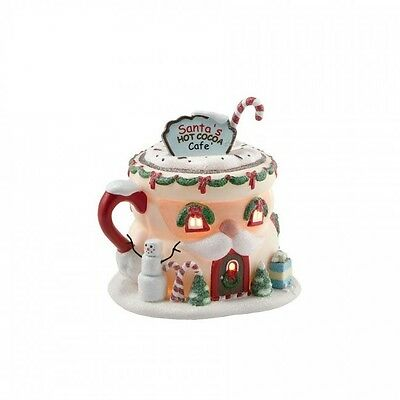 Department 56 North Pole Village SANTA'S HOT COCOA CAFE 4020207 BNIB Dept 56