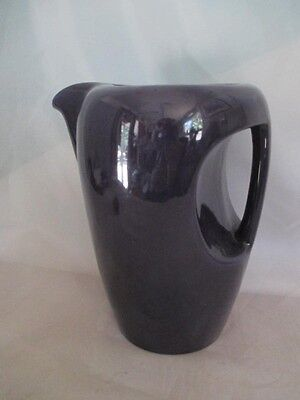 Malibu Modern Pottery by Hollydale Purple Large Handled Pitcher MCM dl