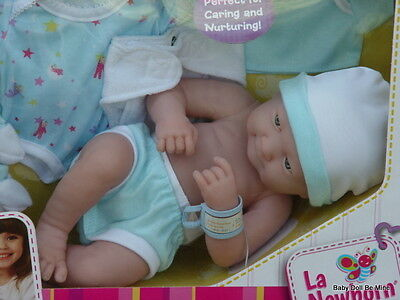 Berenguer *  18551 * La Newborn  15 Inch Doll Blue Deluxe Layette Set