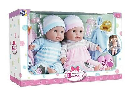 New Berenguer Boutique ~Twins ~ Gift Set *  30050 * 15 Inch Dolls