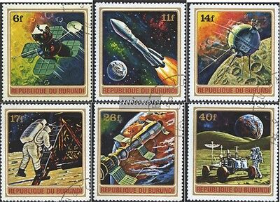 Burundi 832A-837A (complete issue) used 1972 Conquest of Space