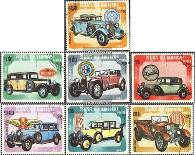 Cambodia 598-604 (complete issue) used 1984 Cars