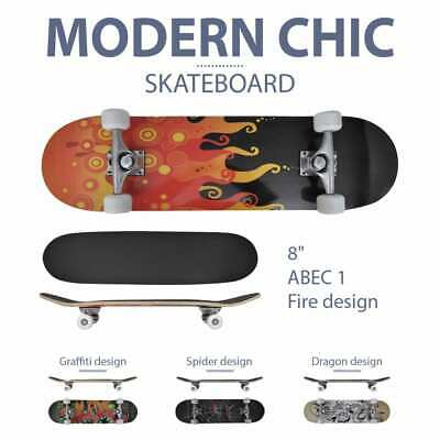 "vidaXL Oval Shape Skateboard 9 Ply Maple Design 8"" Cruiser Deck Multi Colours"