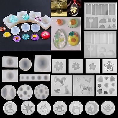 DIY Silicone Pendant Mold Making Jewelry Pendant Resin Casting Mould Craft Tools