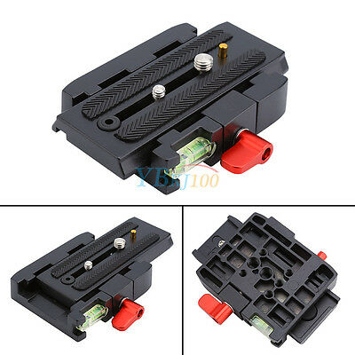 Camera P200 Quick Release Clamp Adapter QR Plate For Manfrotto 501 500AH 701HDV