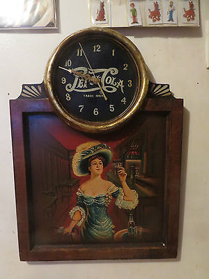 1999 Rare Pepsi-Cola Wood Wall Clock With Hand Painted Painting Limited