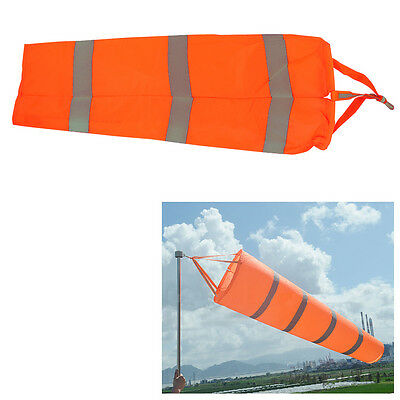 "Fashion Airport Windsock 30"" Long Outdoor Wind Sock w/ Reflective Belts Grommet"