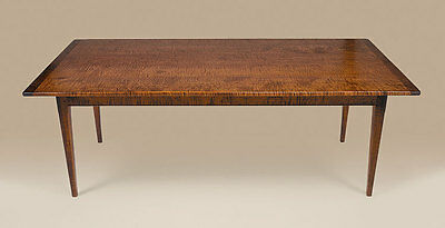 Kitchen Farm Table - Tiger Maple Wood - Country - Dining Room Farmhouse Table