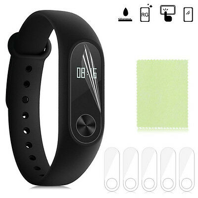 5 X TPU Anti-Scratch Screen Protector Cover For Xiaomi Mi Band 2 Smartband New H