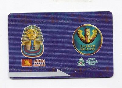 China Macau Landmark Babylon Casino Hotel slot Card RARE