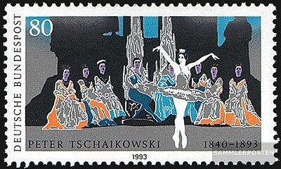 FRD (FR.Germany) 1702 (complete issue) FDC 1993 Tschaikowski
