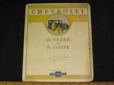 1925 Chevrolet The SEDAN & COUPE Folder Sales Brochure FG