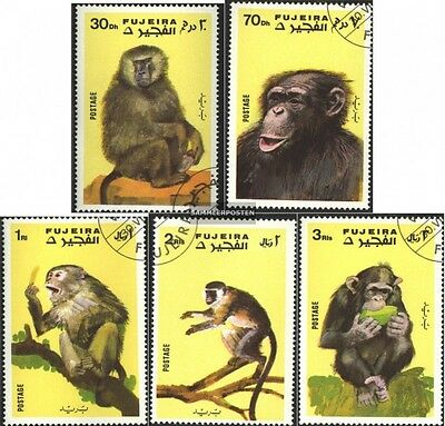 Fujeira 786A-790A (complete issue) used 1971 Monkeys